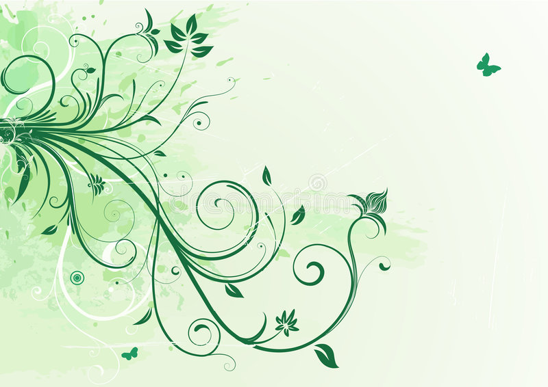 Fondo floral del Grunge stock de ilustración