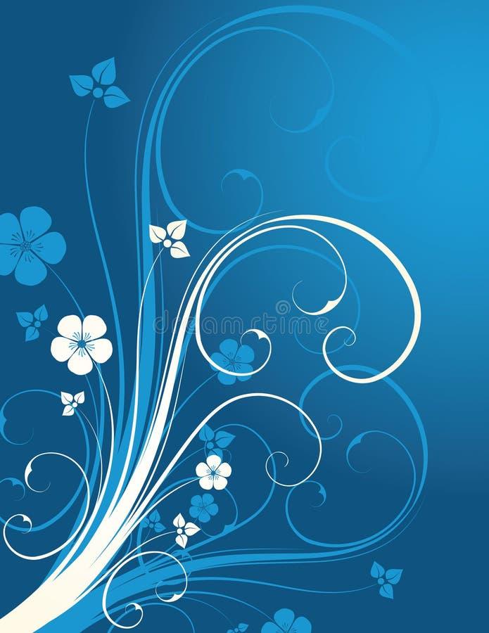 Fondo floral del invierno libre illustration