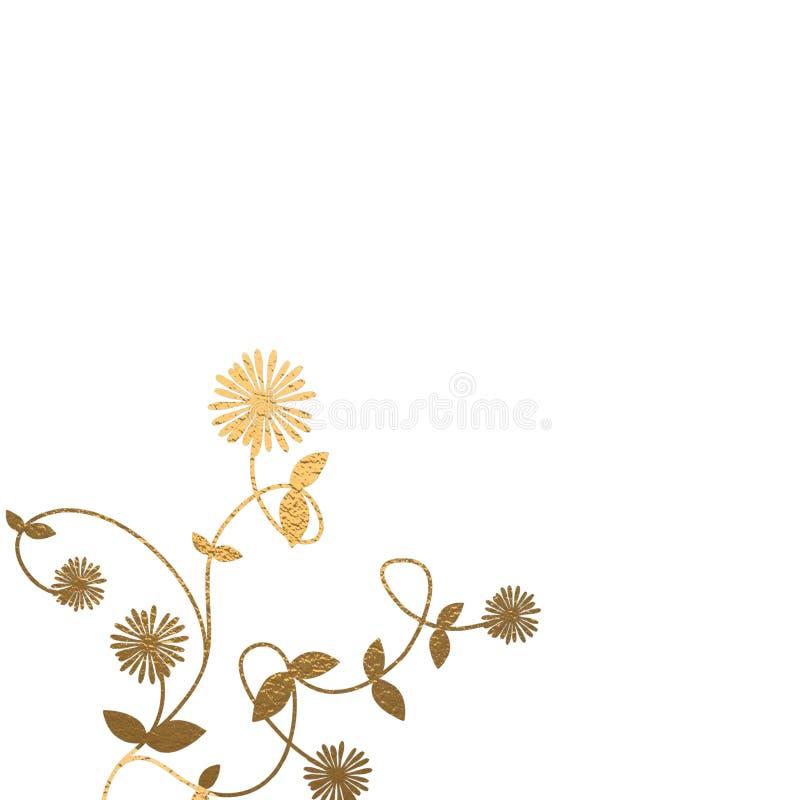 Download Fondo floral del oro stock de ilustración. Ilustración de decorativo - 7287360