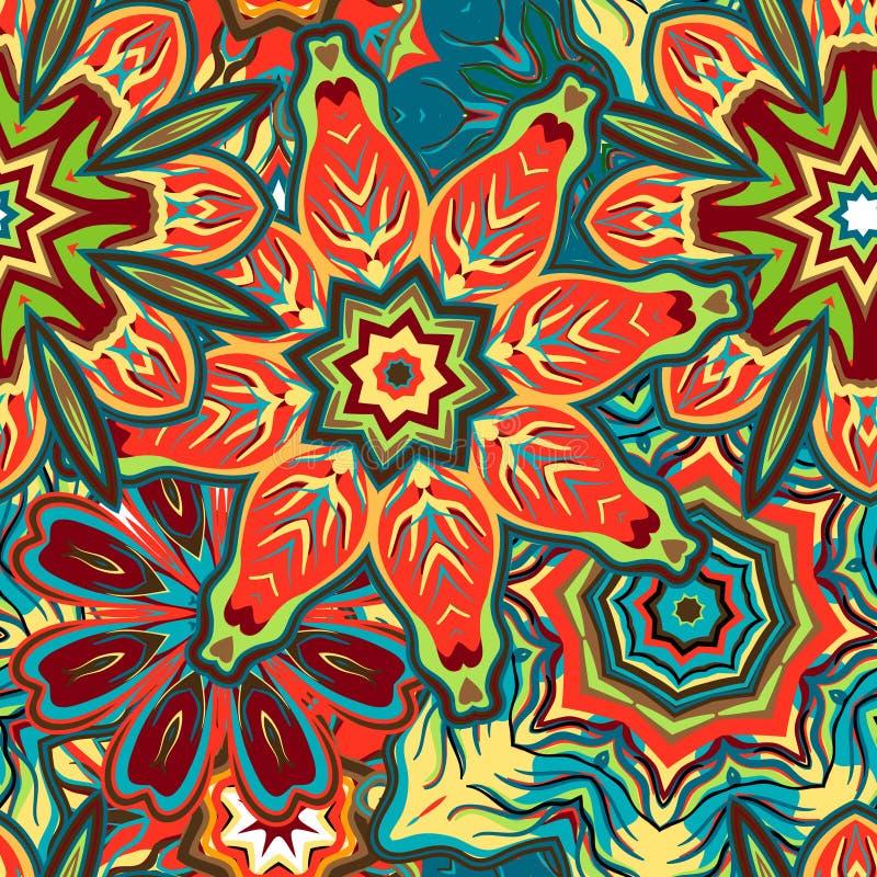 Fondo floral dibujado mano única del vector abstracto Modelo inconsútil ilustración del vector