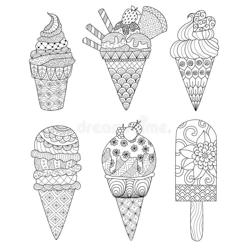 Fondo floral dibujado mano del zentangle para la página que colorea y otras decoraciones ilustración del vector