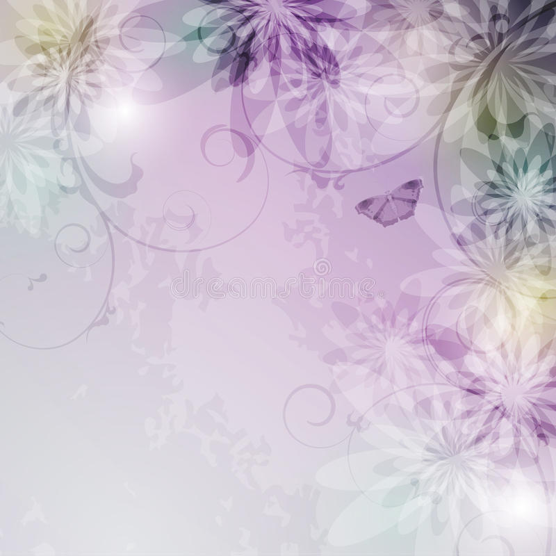 Fondo floral elegante ilustración del vector