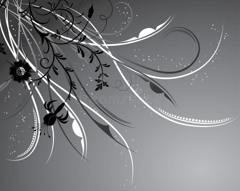 Fondo floral, elementos para el diseño, vector ilustración del vector