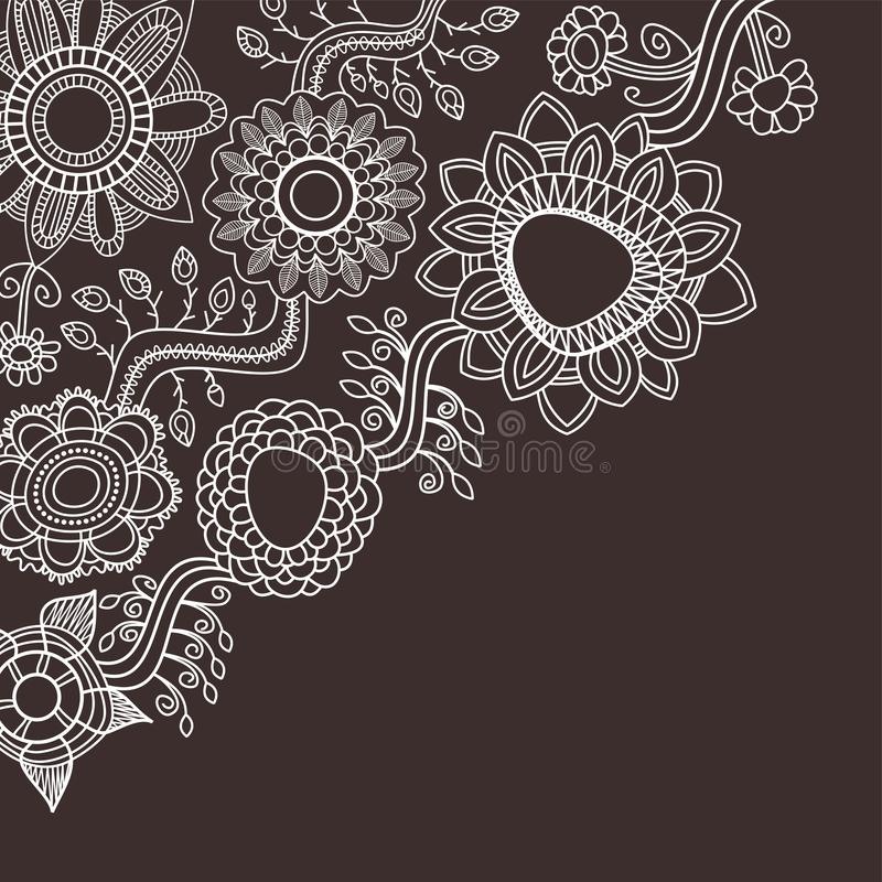 Fondo floral gráfico ilustración del vector