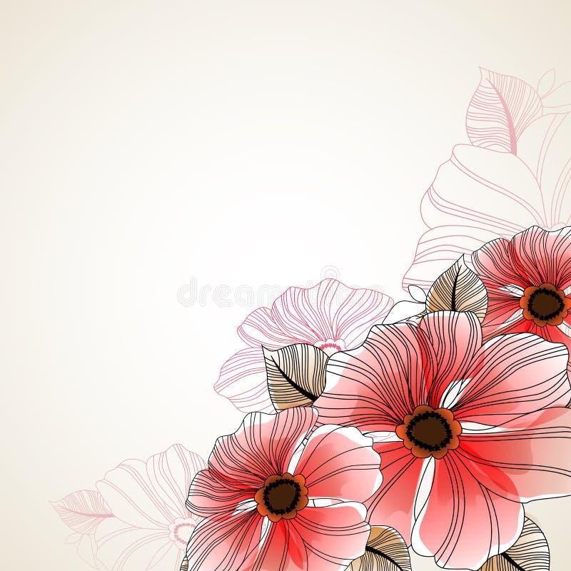 Fondo floral hermoso de la anémona libre illustration