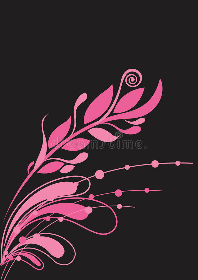 Fondo floral hermoso en color de rosa vibrante libre illustration