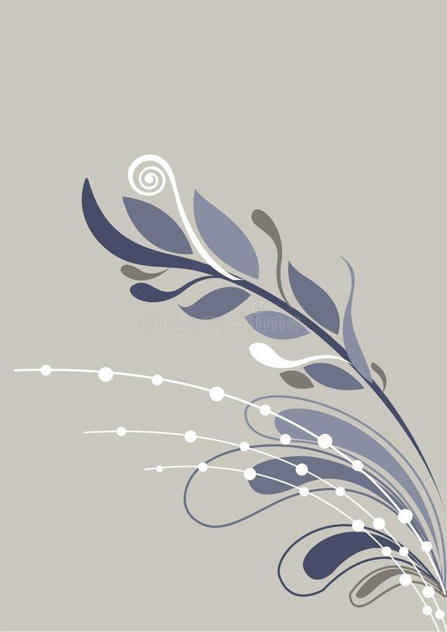 Fondo floral hermoso en suavemente gris y blanco ilustración del vector