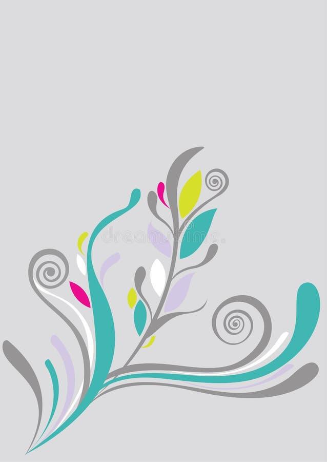 Fondo floral hermoso en suavemente verde ilustración del vector