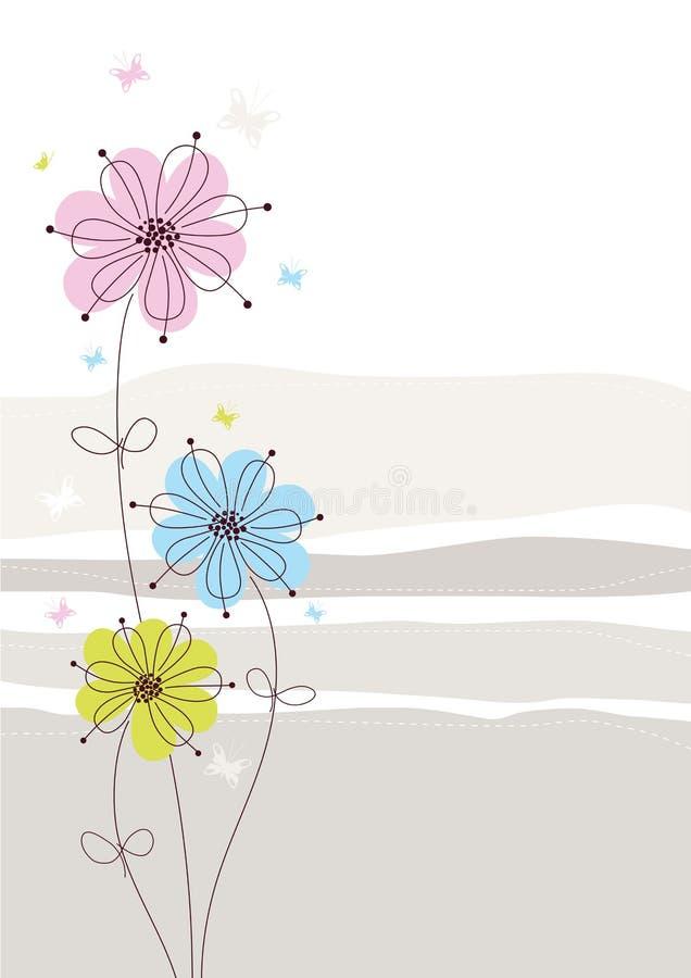 Fondo floral ligero stock de ilustración