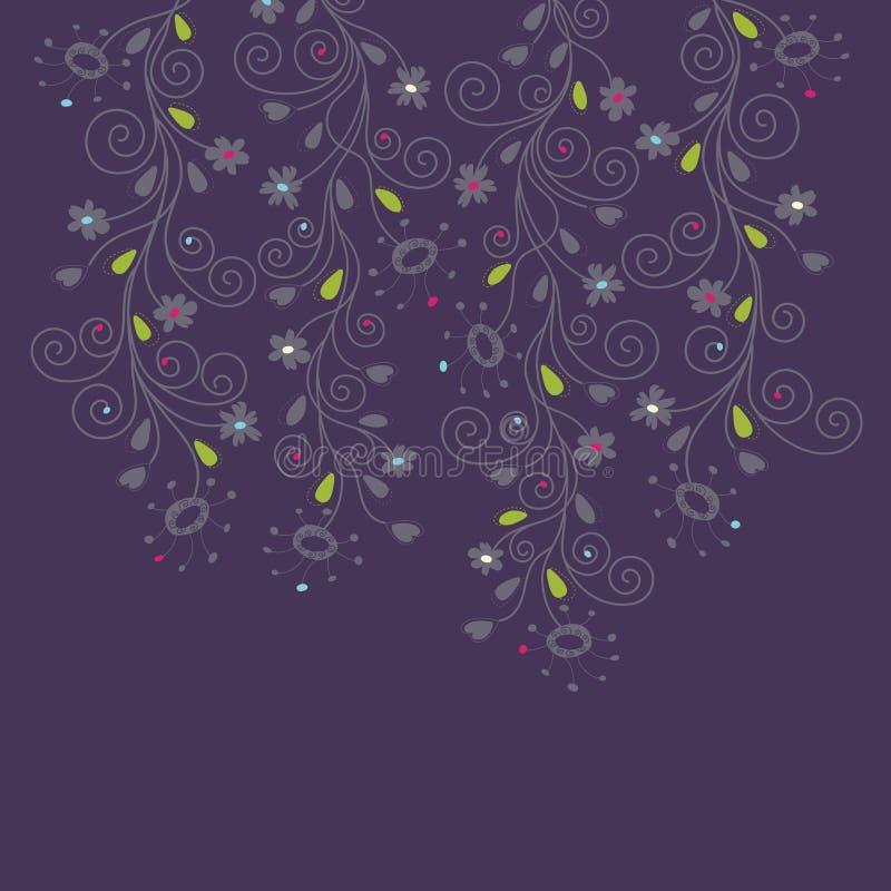 Fondo floral púrpura oscuro libre illustration
