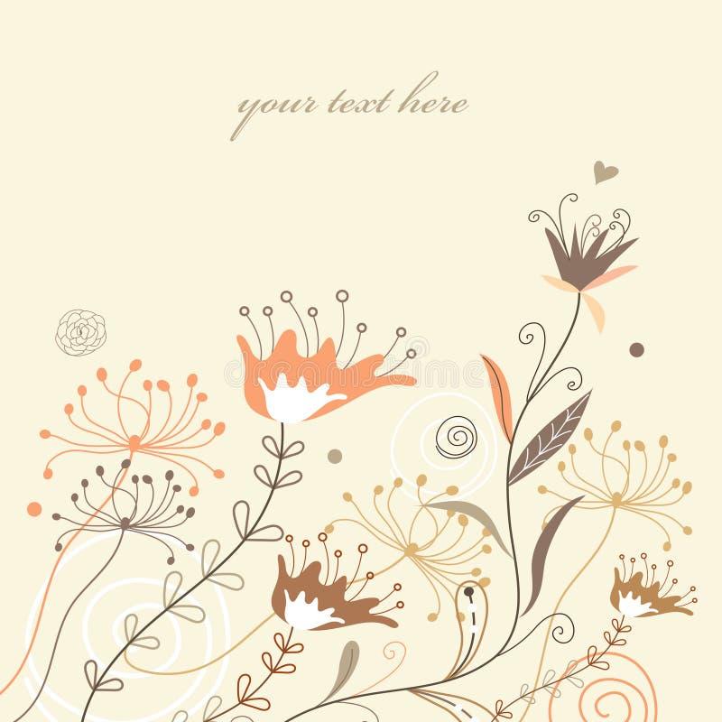 Fondo floral para los diseños del verano stock de ilustración