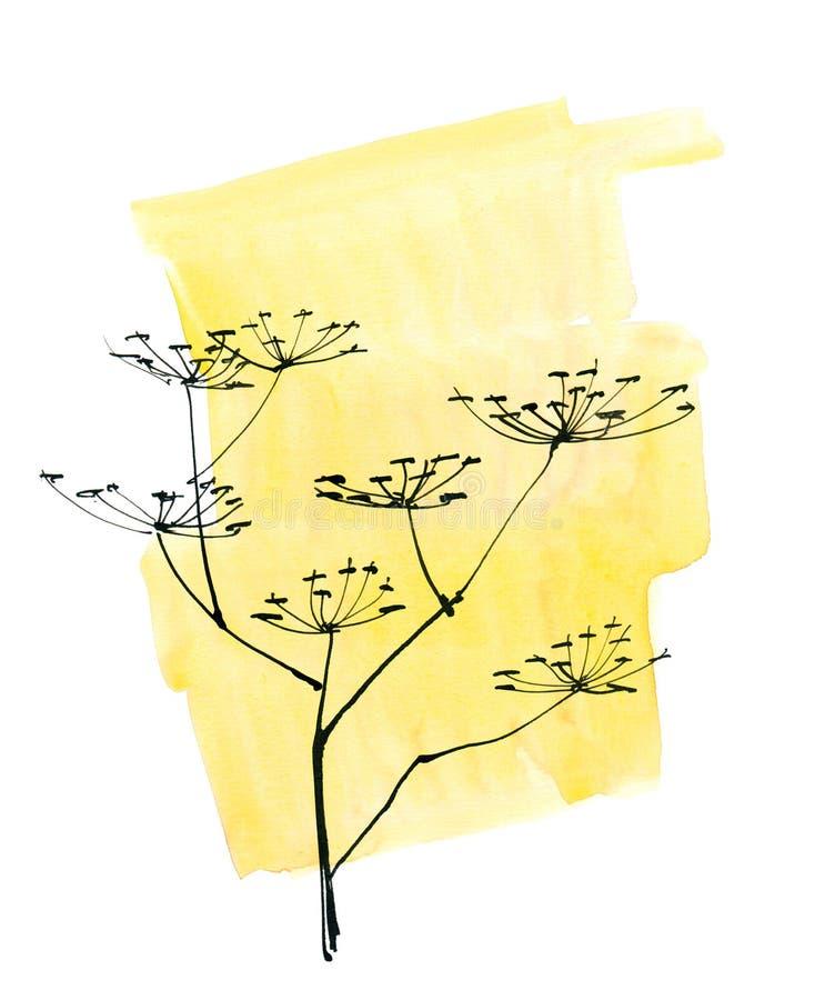 Fondo floral pintado extracto fotos de archivo libres de regalías