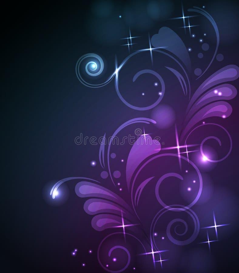 Fondo floral que brilla intensamente libre illustration