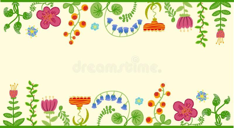 Fondo floral retro del vector, marco libre illustration