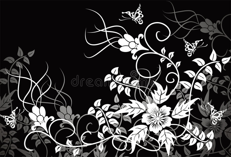 Fondo floral, vector libre illustration