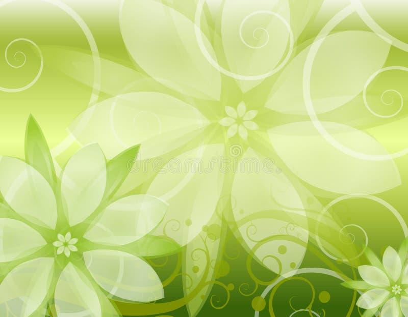 Fondo floral verde claro stock de ilustración