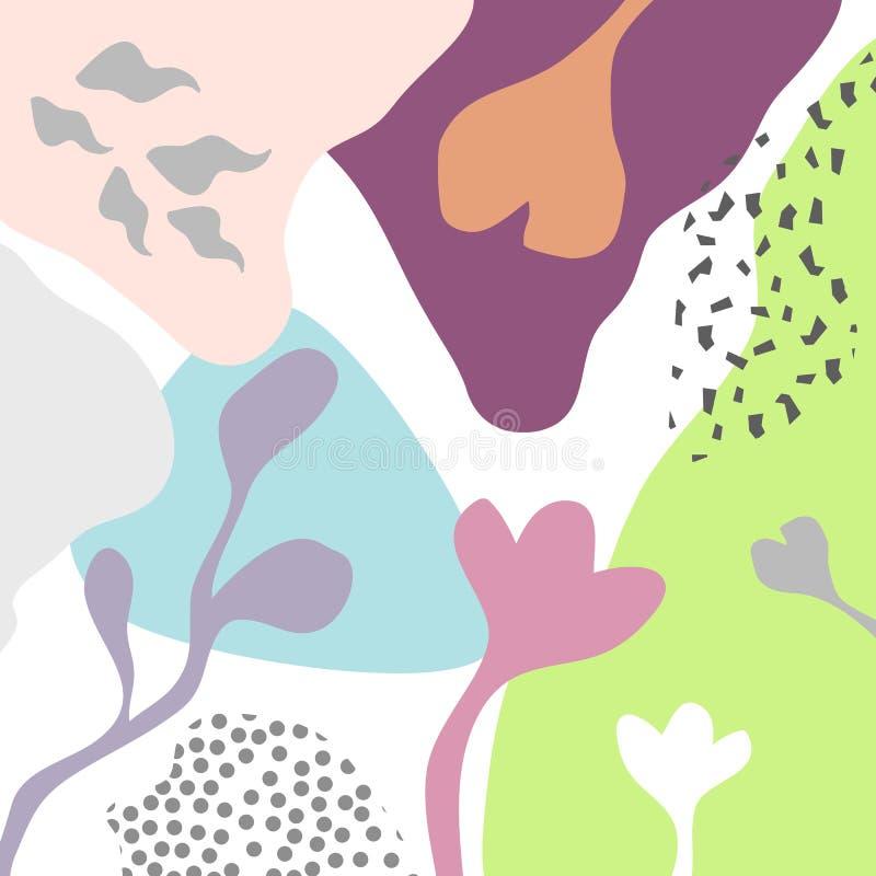 Fondo floreale artistico astratto dell'intestazione di vettore illustrazione di stock