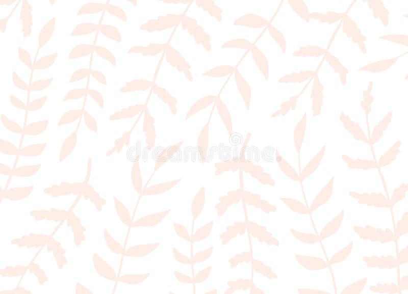 Fondo floreale artistico creativo del modello Strutture disegnate a mano con le foglie Progettazione grafica d'avanguardia per l' royalty illustrazione gratis