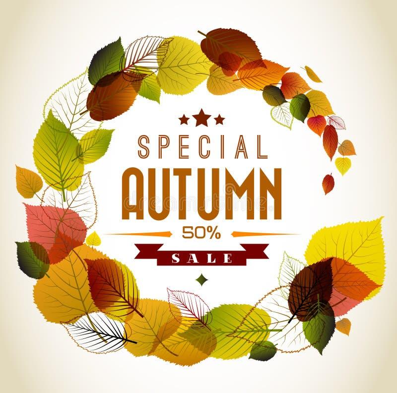 Fondo floreale astratto di autunno illustrazione di stock
