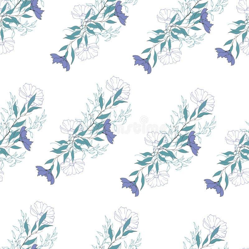 Fondo floreale dei fiori porpora delicati Struttura leggera d'annata per le carte, le mattonelle, gli inviti, i saluti e la pubbl illustrazione vettoriale