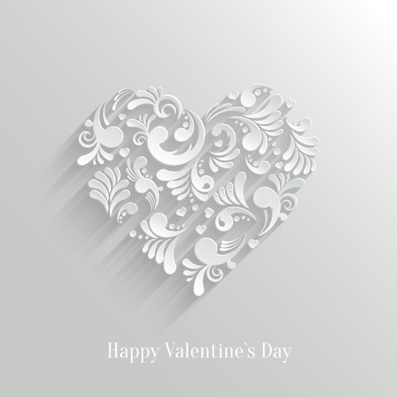 Fondo floreale del cuore di Absrtact illustrazione di stock