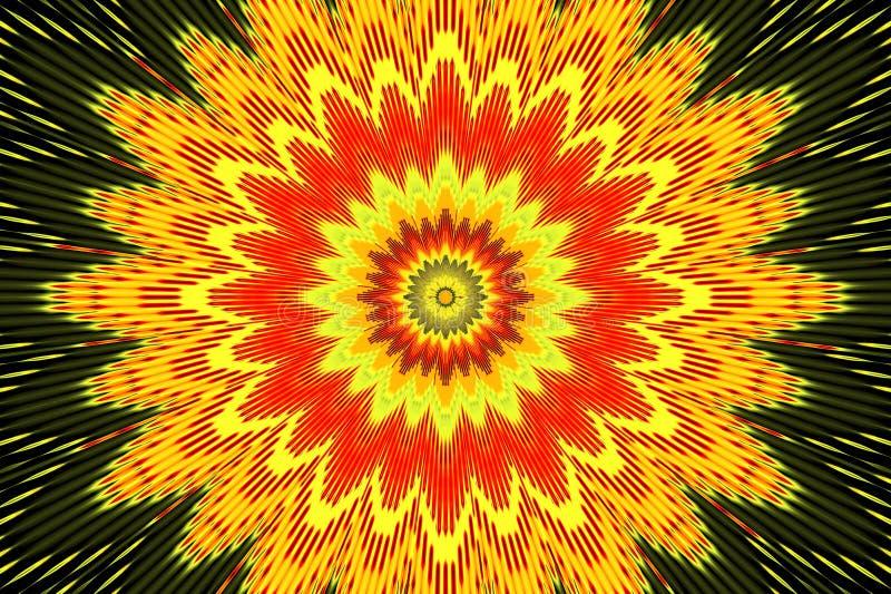 Fondo floreale dell'arcobaleno del modello multicolore playful illustrazione di stock