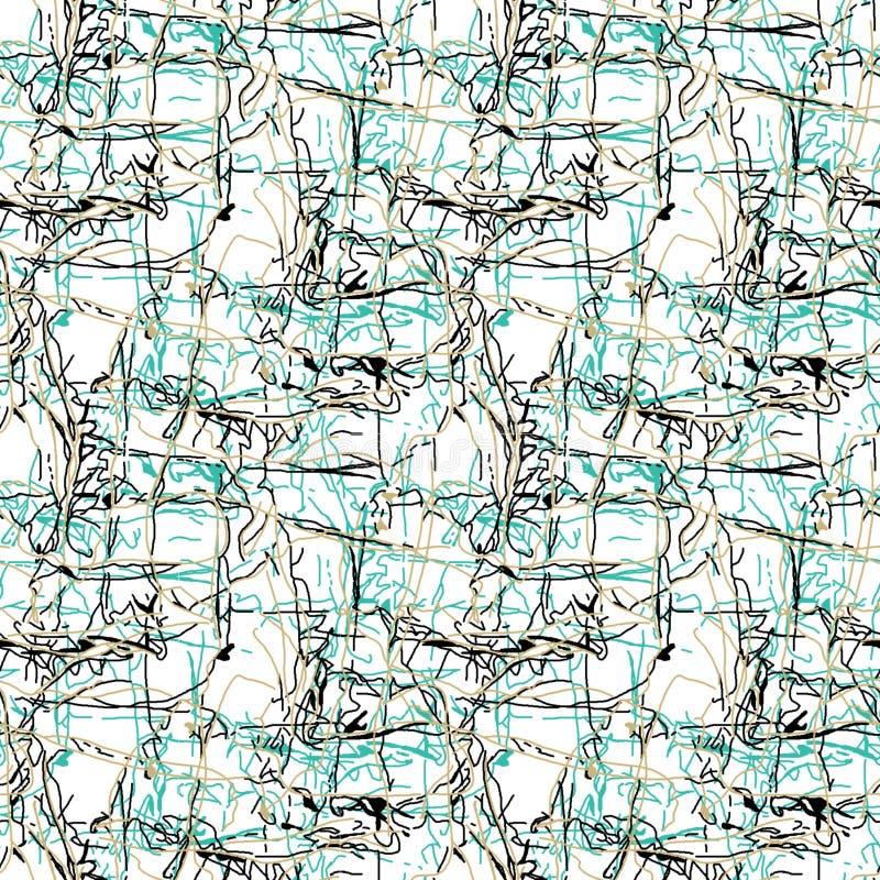 Fondo floreale di bianco del punto sparso estratto illustrazione vettoriale