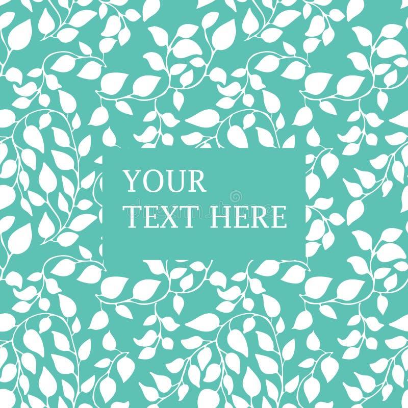 Fondo floreale di estate con il posto per il vostro testo Carta da parati con le foglie grafiche illustrazione di stock
