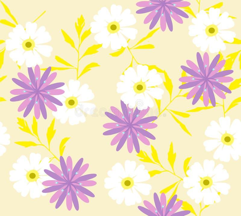 Fondo floreale di vettore con i fiori selvaggi royalty illustrazione gratis