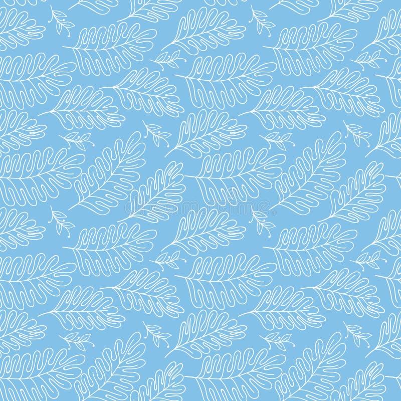 Fondo floreale di vettore senza cuciture del modello con i rami disegnati a mano per il tessuto, la carta da imballaggio, il libr illustrazione di stock