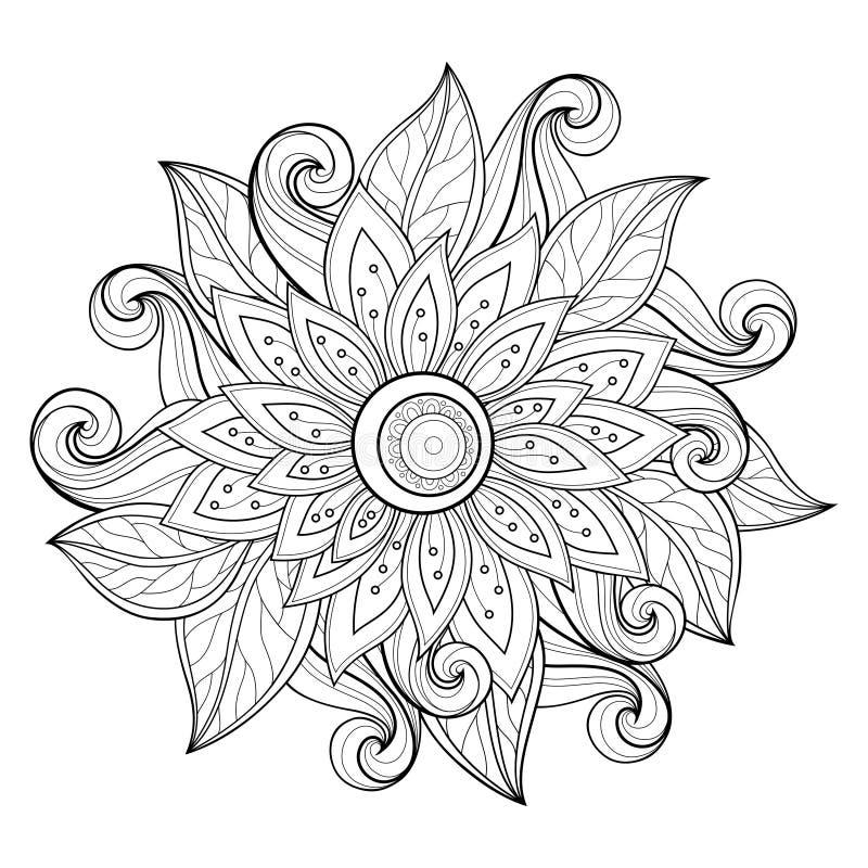 Fondo floreale monocromatico di vettore royalty illustrazione gratis
