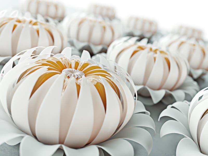 Fondo floreale vago estratto In pieno fiorire ed il mandarino gradiscono dentro Primavera, festività e bello concetto della decor illustrazione di stock