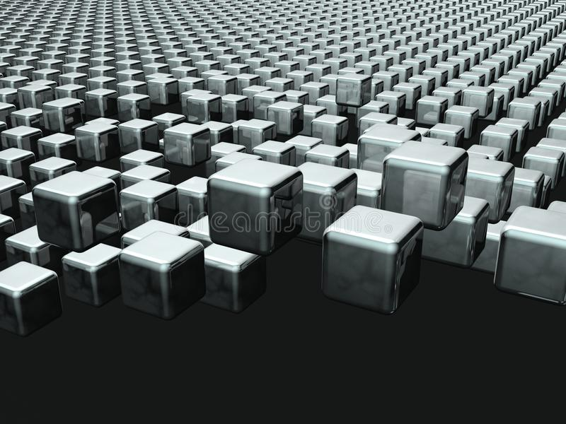 Fondo flotante del cubo dinámico libre illustration