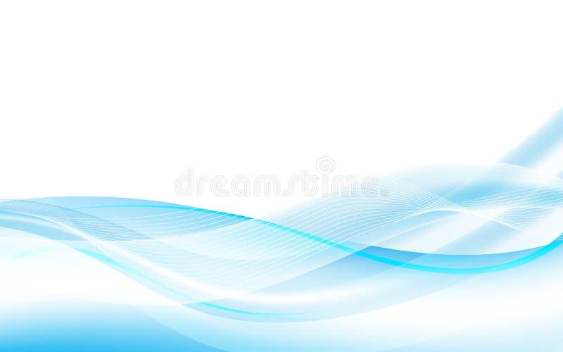 Fondo fluido blu astratto di progettazione dell'onda di vettore