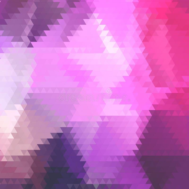 Fondo formado polígono bajo abstracto Diseño triangular con el mosaico geométrico para el negocio Papel pintado colorido con ilustración del vector