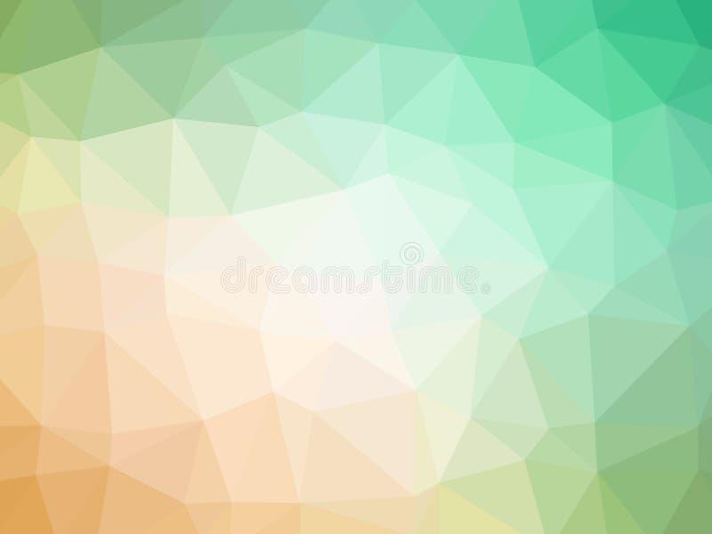 Fondo formado polígono verde anaranjado de la pendiente ilustración del vector