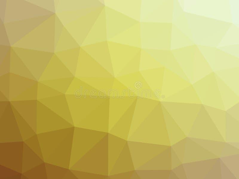 Fondo formado pol?gono bajo amarillo abstracto de la pendiente stock de ilustración