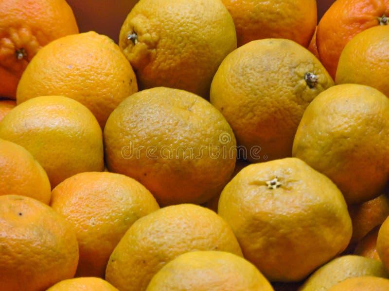 Fondo fresco de las mandarinas fotos de archivo