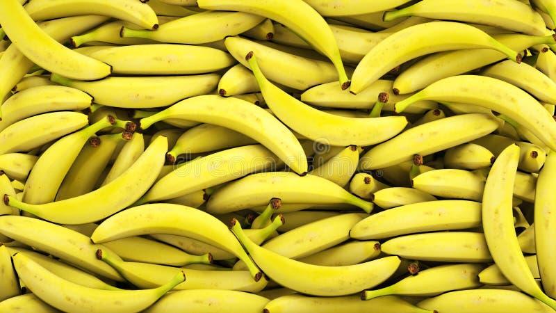 Fondo fresco de los plátanos Concepto del alimento representación 3d stock de ilustración