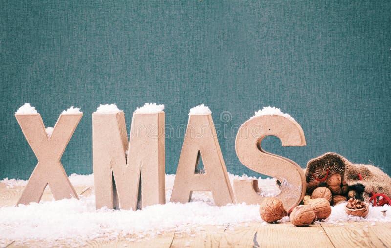 Fondo fresco de Navidad del invierno imagenes de archivo