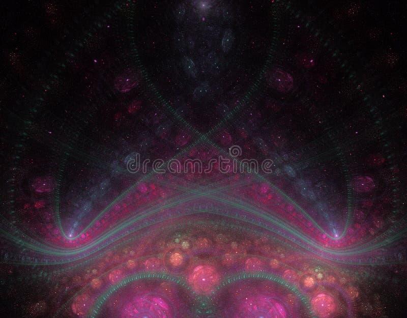Fondo fresco del fractal stock de ilustración