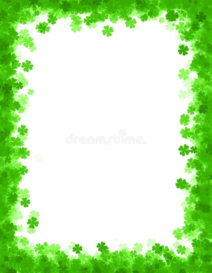 Fondo/frontera Del Día Del St. Patricks Stock de ilustración ...