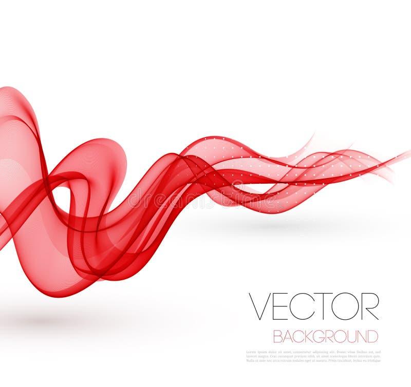 Fondo fumoso rosso astratto delle onde mascherina illustrazione di stock