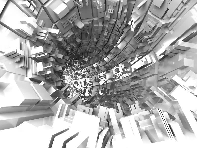 Fondo futurista abstracto stock de ilustración