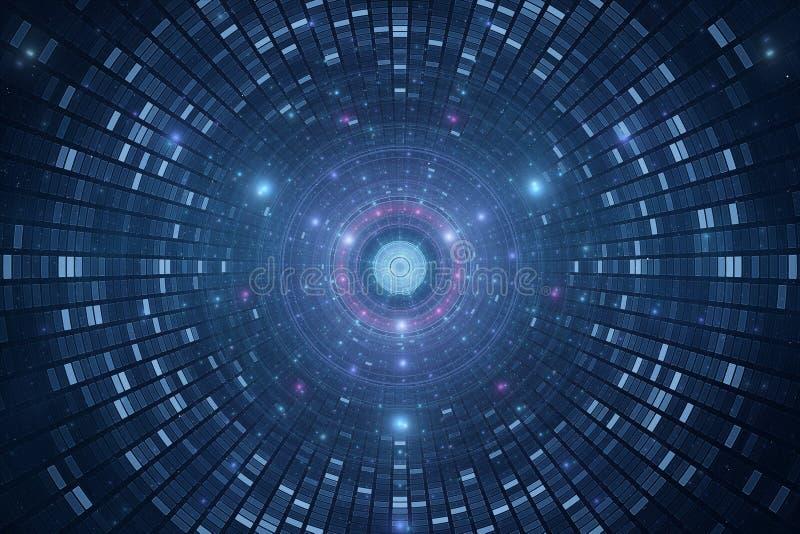 fondo futurista abstracto de la ciencia ficción 3D libre illustration