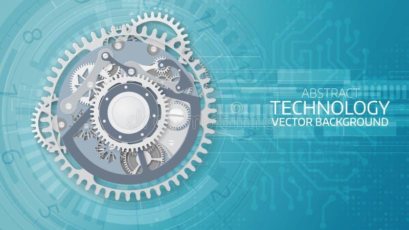 Fondo futurista abstracto de la tecnología del vector stock de ilustración