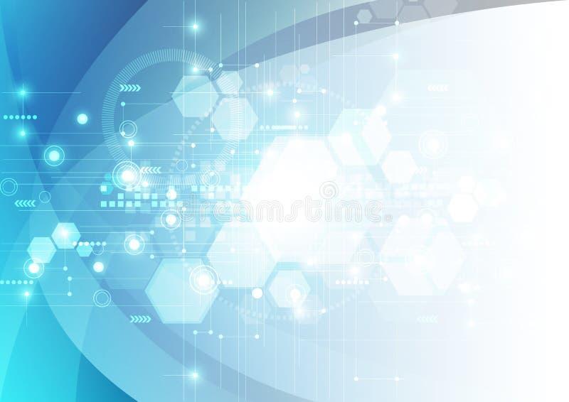 Fondo futurista abstracto de la tecnología digital vector del ejemplo stock de ilustración