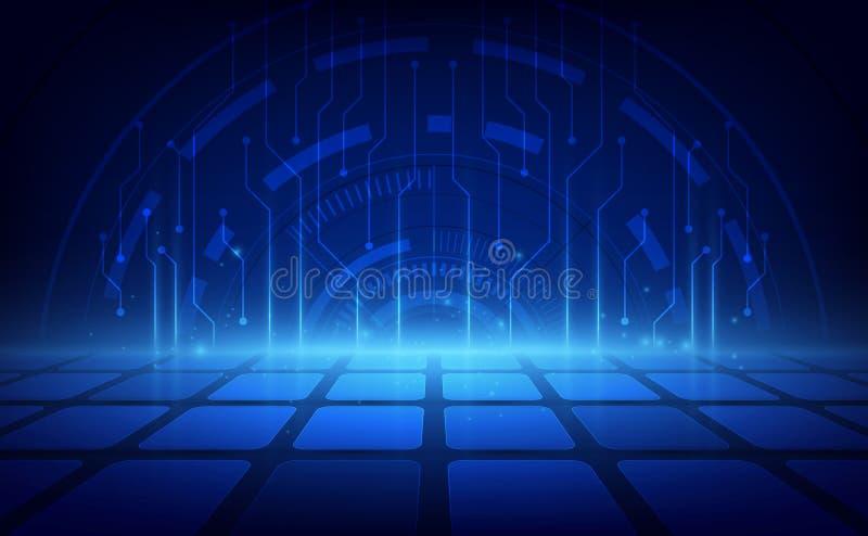 Fondo futurista abstracto de la tecnolog?a digital Ilustraci?n del vector ilustración del vector