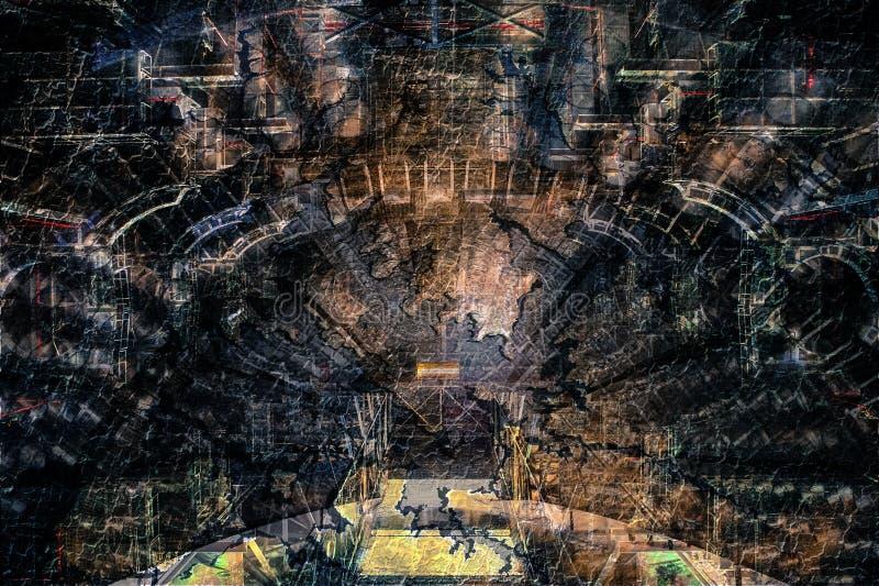 Fondo futurista abstracto del diseño de la construcción stock de ilustración