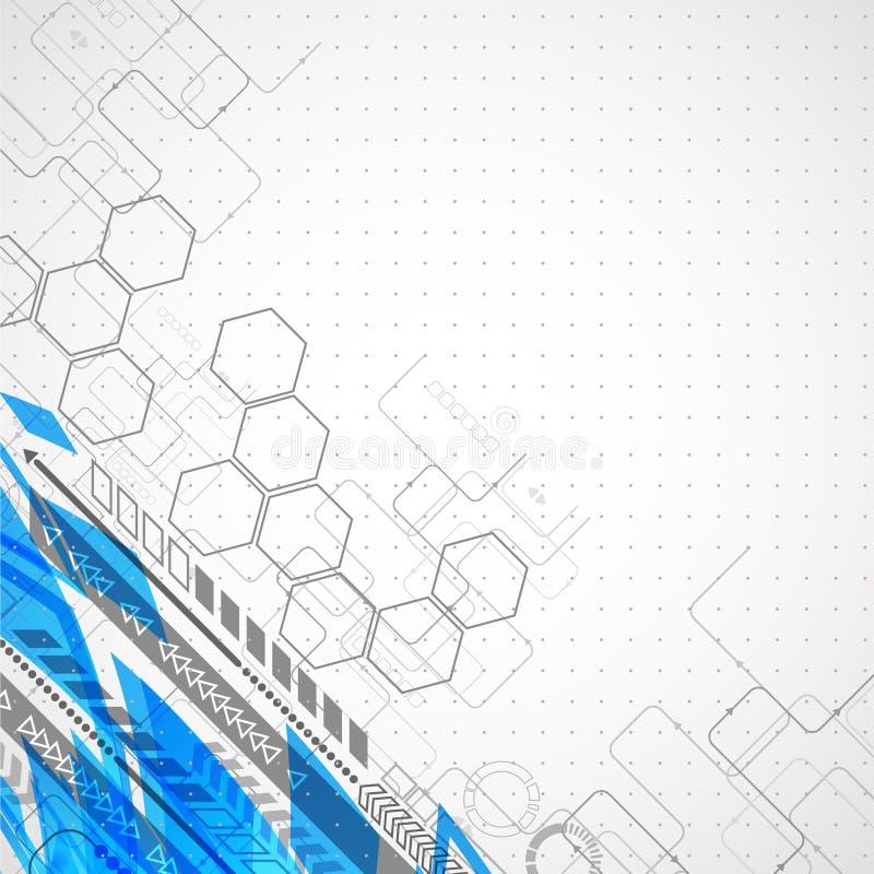Fondo futurista abstracto del negocio de la informática libre illustration